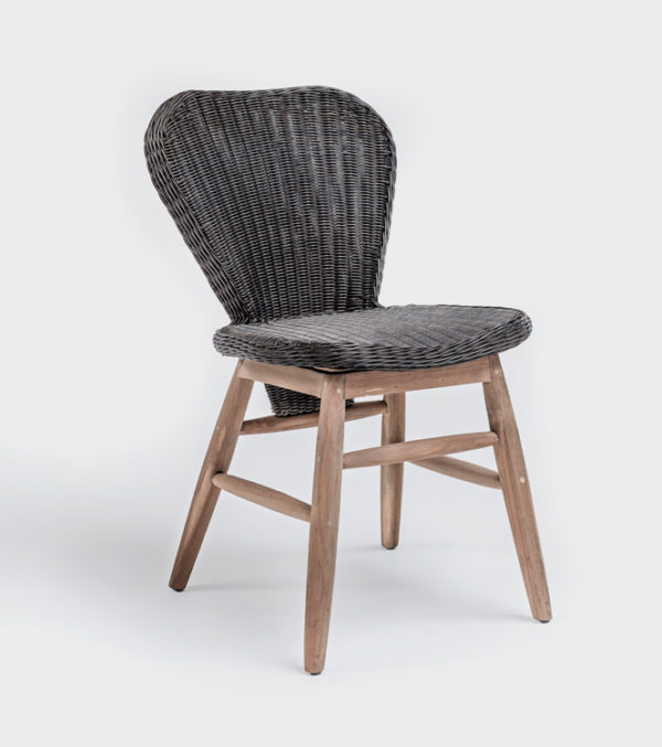 Chair Elemy w/o arms – Bronze Synthetic & Teak