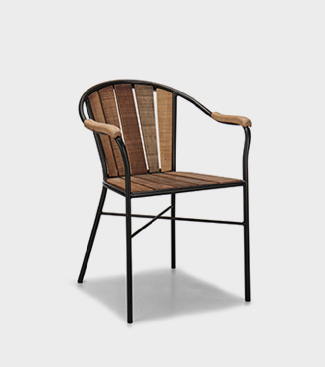 Gaston Ourdoor Dining Chair – Old wood / Metal