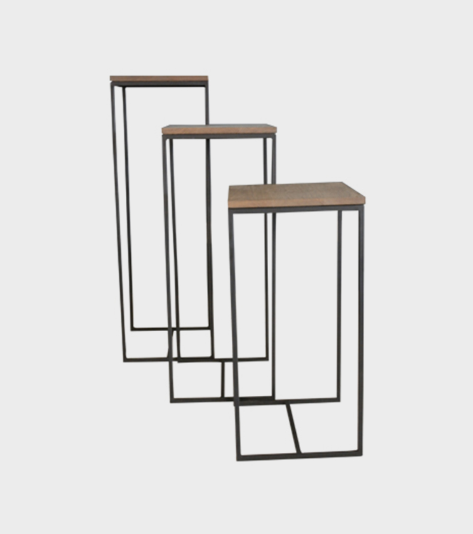 Metal & Wood Plinth – 3 Sizes