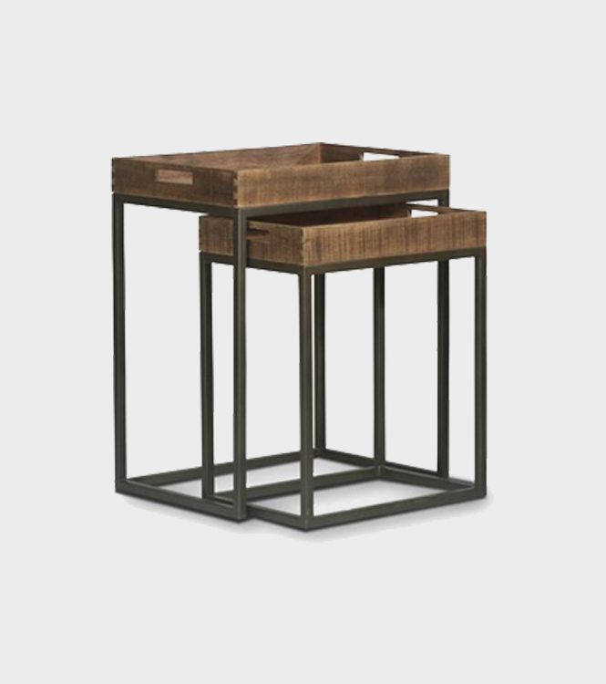 Pryce Nesting Table S/2 – Old Wood