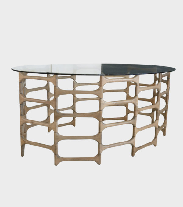 Albert Console Table, with Glass Top