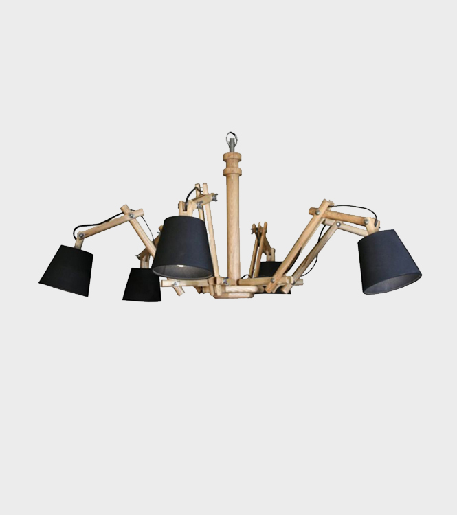 Cain Chandelier with shades