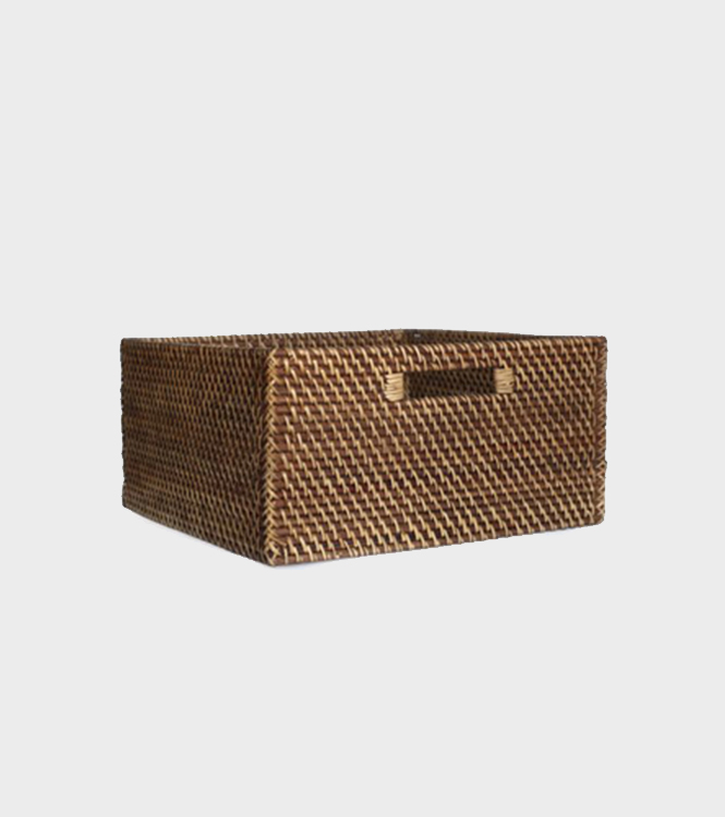Rattan Cat Box Square