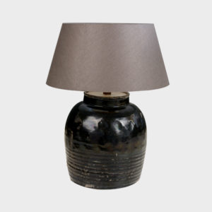 Ceramic Lamp Base – Black – Small & Large