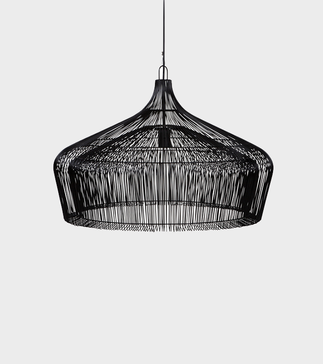 Hanging lamp Cone – Wire - Black H45