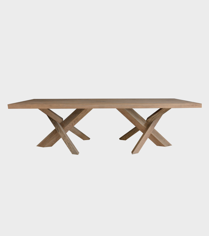 Crossleg Dining Table – Solid French Oak