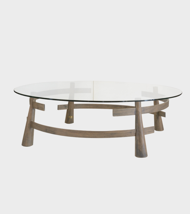 Garber Coffee Table- Glass Top