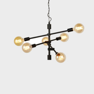 Hanging Lamp – Nashville 6 arm - Black