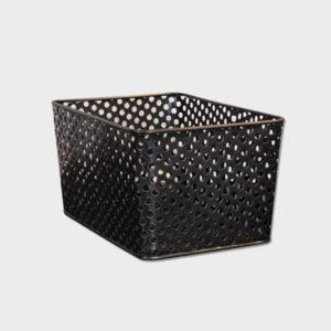 Office Basket – Perforated Steel – Small & Large