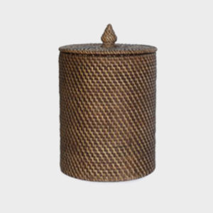 Rattan RD Wastebasket with lid