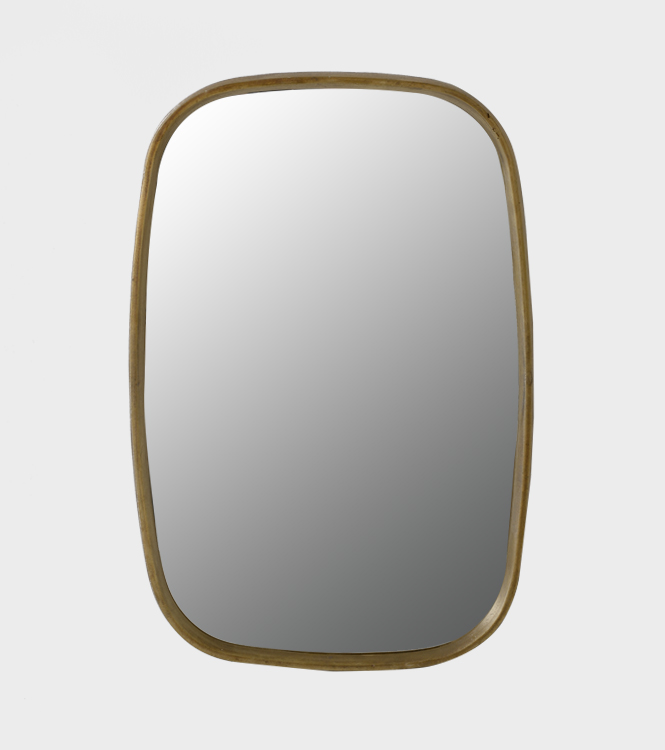 Mirror Rolf Rectangular 880×60 – Ant Brass