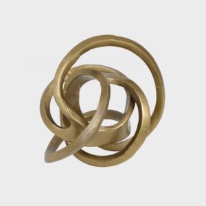 Spheroid Sculpture Brass Antique – Lrg