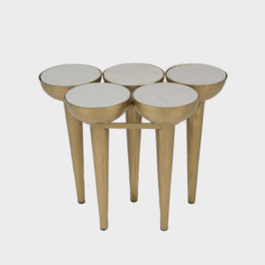 Side Table – Steve – 5 legs – Brass Finish
