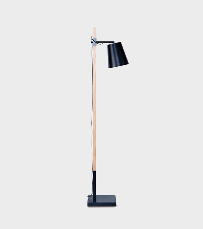 Floor Lamp – Sydney – Black and Natural