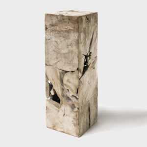 Side Table Cube - Teak Natural