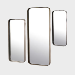 Mirror Metal Edge Rectangle - S/3