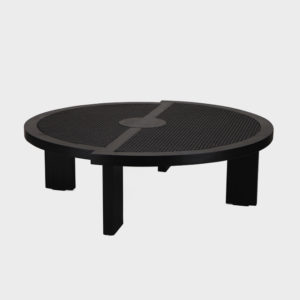 Roman Coffee Table - Round - Textured Charcoal