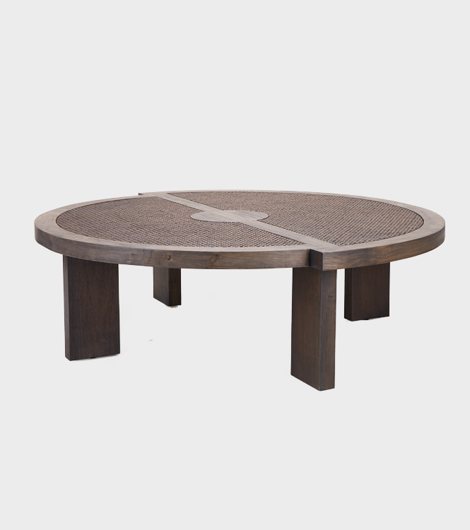 Roman Coffee Table - Round - Mocca