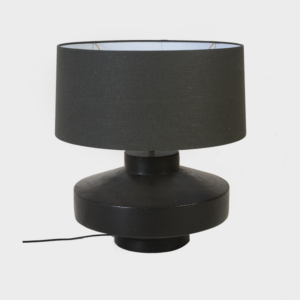 Lamp - Disc- Black with shade