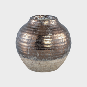 Thriff Gold Glazed ceramic vase