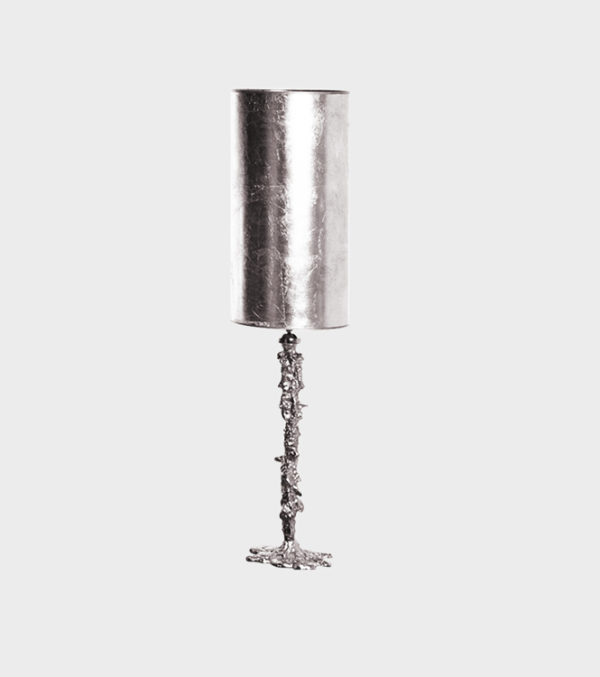 Table Lamp Drip Nickle with Shade
