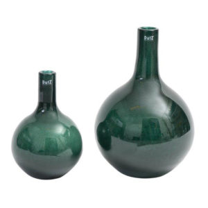 Bottle dark green bubbles