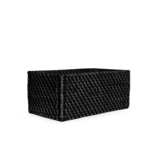 Rattan CD Basket Black