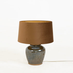 Ceramic-Lamp-base---Glazed-brown