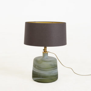 Lamp-base-Puck-Small---Green-with-shade