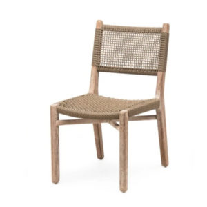 Dining Chair Fiona w:o Arms - Teak & PE Wicker
