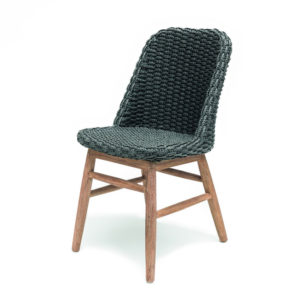 Dining Chair Sienna - PE Wicker - Charcoal