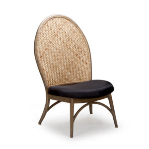 Forio Accent Chair -Mocca with Natural Weaving