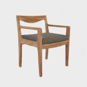 Curve Dining Chair with Arms - Teak - excl cushion