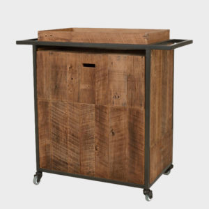 Gaston Mini Bar Cart - Old Wood
