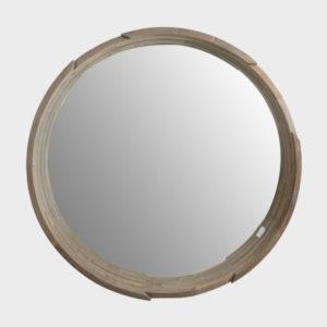 Zenza Mirror - Round - Old Mahogany