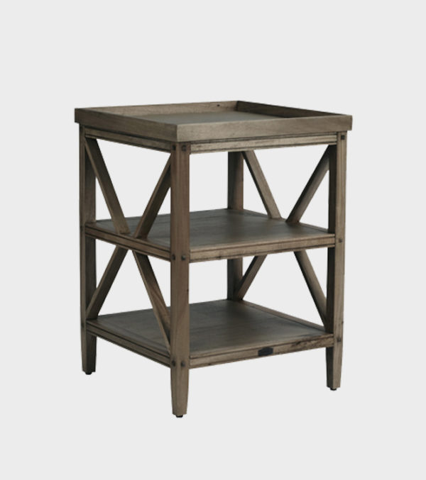 Architectural Bedside Table – Small - Mocca