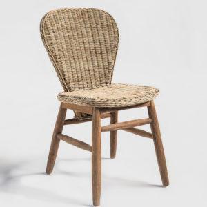 Chair Elemy w/o arms – Rattan & Teak