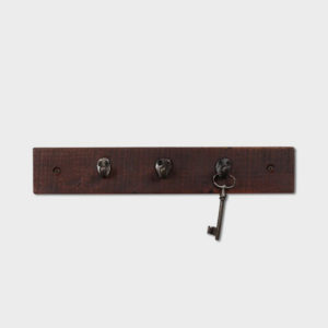 Key Rack – Hardwood and Salvaged Iron Hooks
