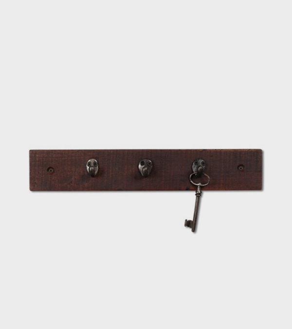 Key Rack – Hardwood and Salvaged Iron Hooks