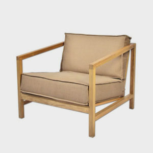 Straight Back Lounge Chair