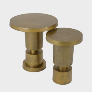 Side Table Bullet – Ant Brass – Sml & Lrg