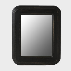 Mirror Cristian – Rounded Corners – Black