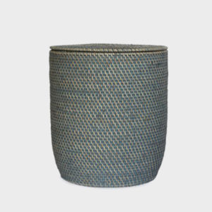 Nagoya Rattan Laundry Basket – Light Grey Wash – Medium & Large