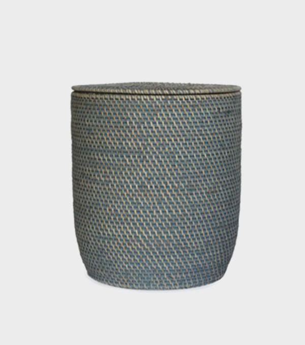 Nagoya Rattan Laundry Basket – Light Grey Wash – Medium & Large