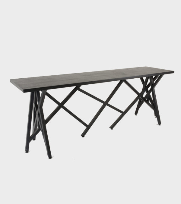 Perspective Console Wooden Top – Ebony