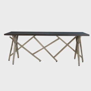 Perspective Console Table – Metal Top