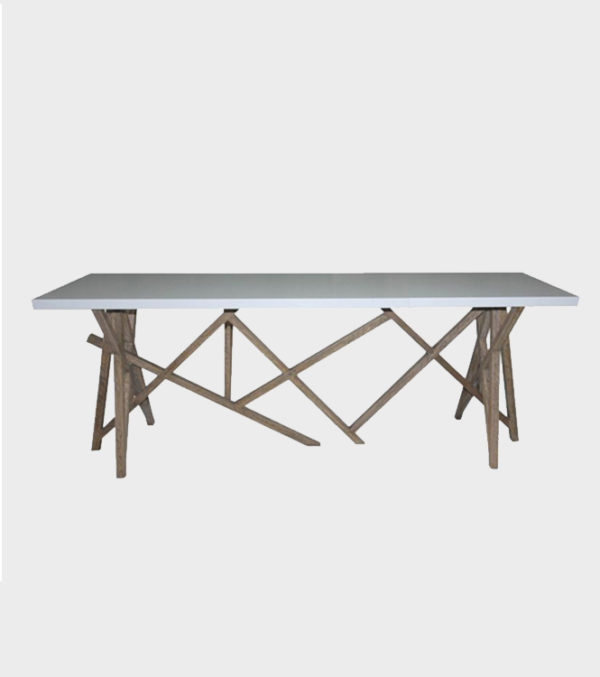 Perspective Console Table – White Top