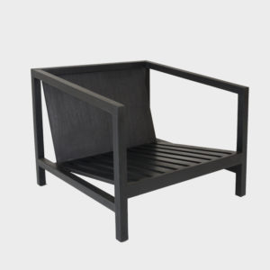 Lounge Chair Straight Back - Ebony