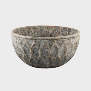 Tender Grey Cement Round Bowl – Large
