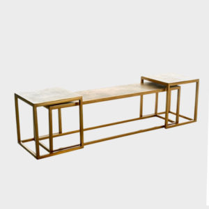 Coffee Table Slide Trio – Antique Brass s/3